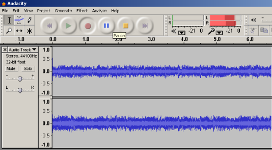 What you can hear recording with Audacity and Windows 7/8